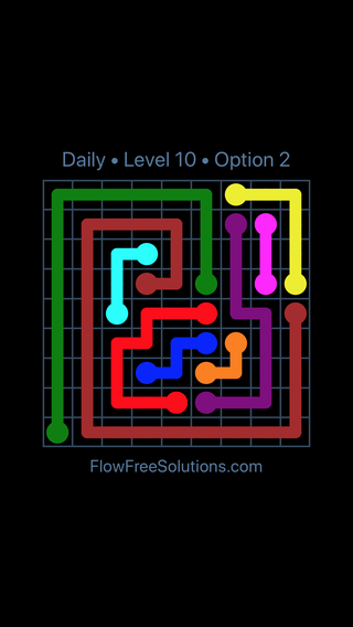 Solution and Answer to the Puzzle for Flow Date Saturday, November 11, 2017 Level 10