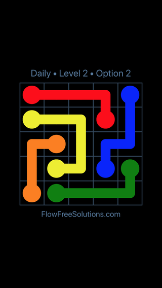 Solution and Answer to the Puzzle for Flow Date Saturday, November 11, 2017 Level 2