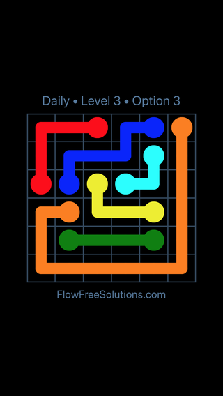 Solution and Answer to the Puzzle for Flow Date Saturday, November 11, 2017 Level 3