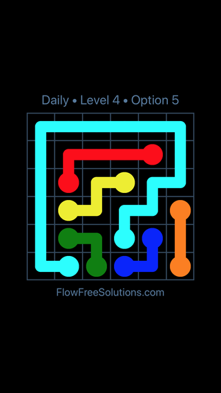 Solution and Answer to the Puzzle for Flow Date Saturday, November 11, 2017 Level 4