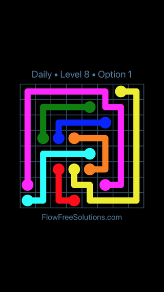 Solution and Answer to the Puzzle for Flow Date Saturday, November 11, 2017 Level 8