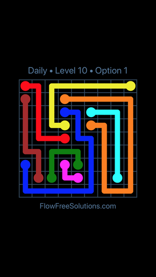 Solution and Answer to the Puzzle for Flow Date Sunday, May 24, 2020 Level 10