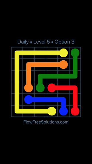 Solution and Answer to the Puzzle for Flow Date Monday, November 13, 2017 Level 5