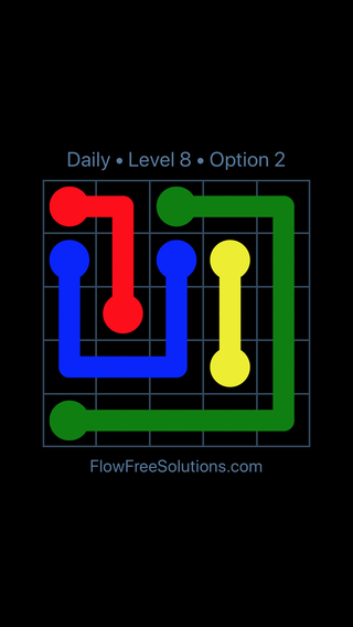 Solution and Answer to the Puzzle for Flow Date Monday, November 13, 2017 Level 8