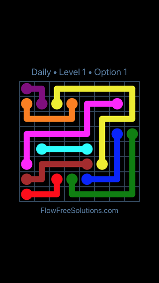Solution and Answer to the Puzzle for Flow Date Wednesday, January 10, 2018 Level 1