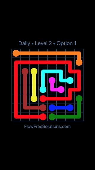 Solution and Answer to the Puzzle for Flow Date Wednesday, January 10, 2018 Level 2