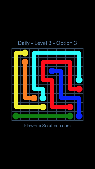 Solution and Answer to the Puzzle for Flow Date Wednesday, January 10, 2018 Level 3