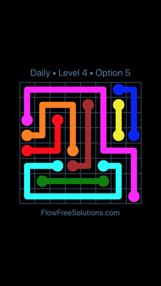 Solution and Answer to the Puzzle for Flow Date Wednesday, January 10, 2018 Level 4