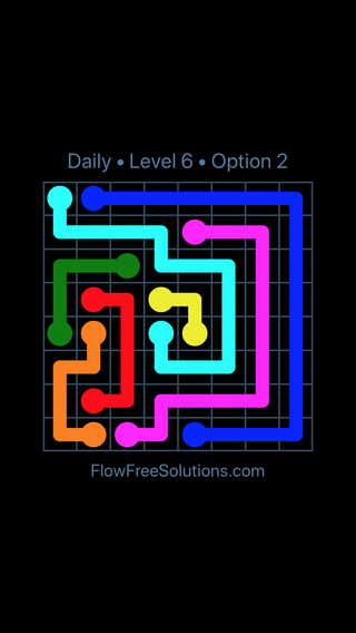 Solution and Answer to the Puzzle for Flow Date Wednesday, January 10, 2018 Level 6