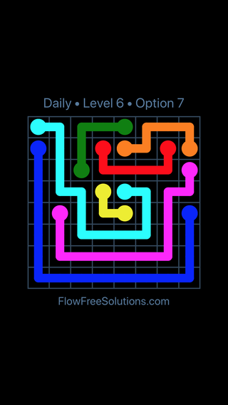 Solution and Answer to the Puzzle for Flow Date Wednesday, October 14, 2020 Level 6