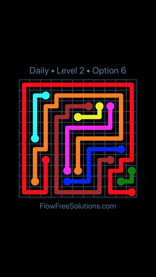 Solution and Answer to the Puzzle for Flow Date Tuesday, November 14, 2017 Level 2