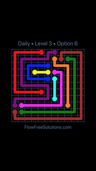 Solution and Answer to the Puzzle for Flow Date Thursday, February 8, 2018 Level 3
