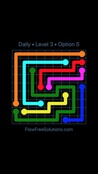 Solution and Answer to the Puzzle for Flow Date Friday, February 9, 2018 Level 3
