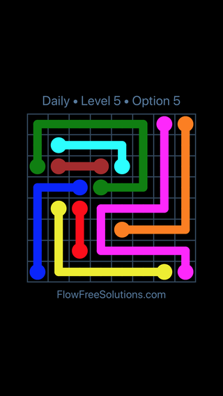 Solution and Answer to the Puzzle for Flow Date Friday, February 9, 2018 Level 5