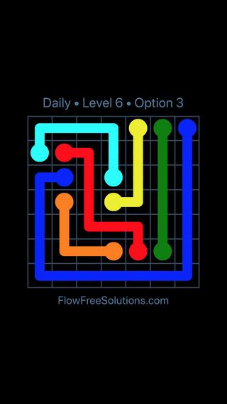Solution and Answer to the Puzzle for Flow Date Friday, February 9, 2018 Level 6