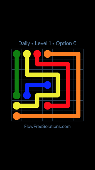 Solution and Answer to the Puzzle for Flow Date Saturday, February 10, 2018 Level 1