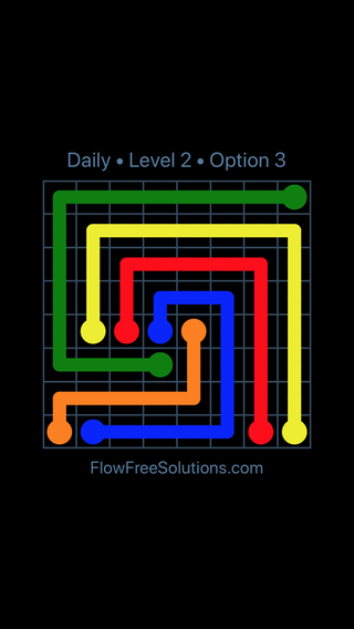 Solution and Answer to the Puzzle for Flow Date Saturday, February 10, 2018 Level 2
