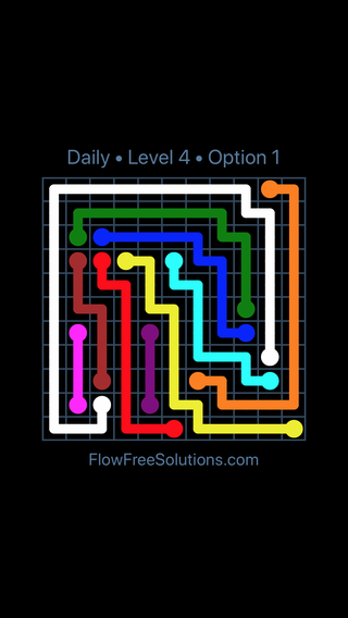 Solution and Answer to the Puzzle for Flow Date Saturday, February 10, 2018 Level 4