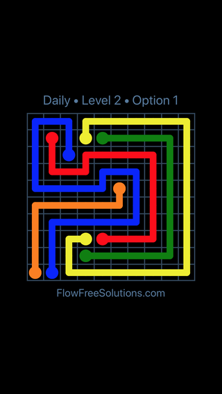 Solution and Answer to the Puzzle for Flow Date Sunday, February 11, 2018 Level 2