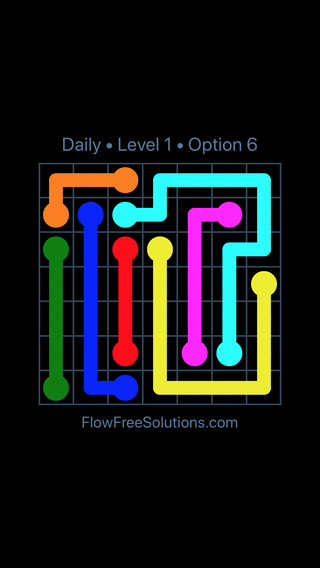 Solution and Answer to the Puzzle for Flow Date Monday, February 12, 2018 Level 1