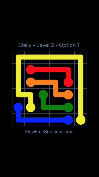 Solution and Answer to the Puzzle for Flow Date Monday, February 12, 2018 Level 2