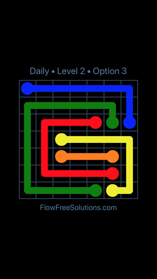 Solution and Answer to the Puzzle for Flow Date Tuesday, February 13, 2018 Level 2