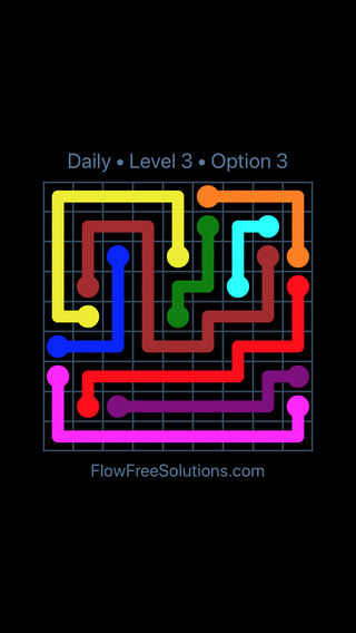 Solution and Answer to the Puzzle for Flow Date Tuesday, February 13, 2018 Level 3
