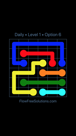 Solution and Answer to the Puzzle for Flow Date Wednesday, February 14, 2018 Level 1