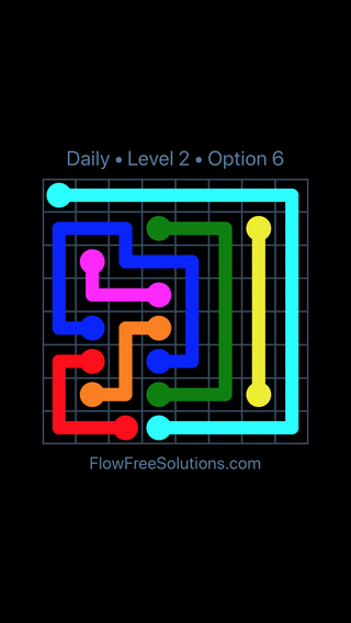 Solution and Answer to the Puzzle for Flow Date Wednesday, February 14, 2018 Level 2