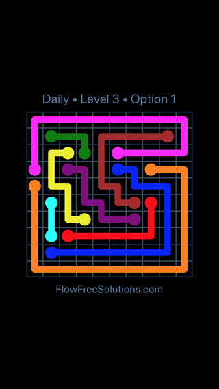 Solution and Answer to the Puzzle for Flow Date Wednesday, February 14, 2018 Level 3