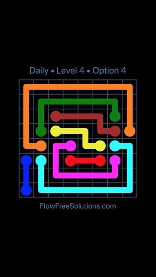 Solution and Answer to the Puzzle for Flow Date Wednesday, February 14, 2018 Level 4