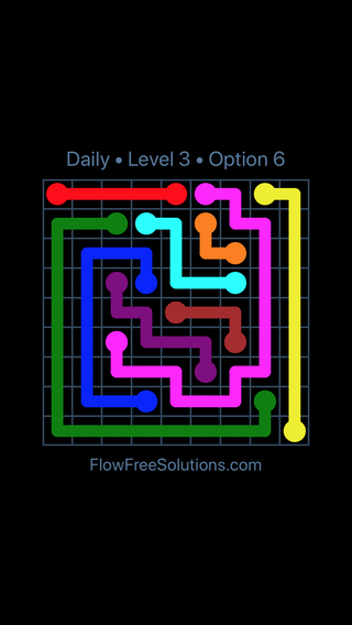 Solution and Answer to the Puzzle for Flow Date Thursday, January 11, 2018 Level 3