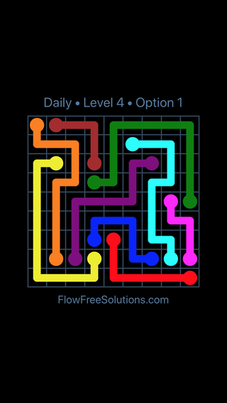 Solution and Answer to the Puzzle for Flow Date Thursday, October 15, 2020 Level 4