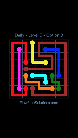 Solution and Answer to the Puzzle for Flow Date Thursday, January 11, 2018 Level 5