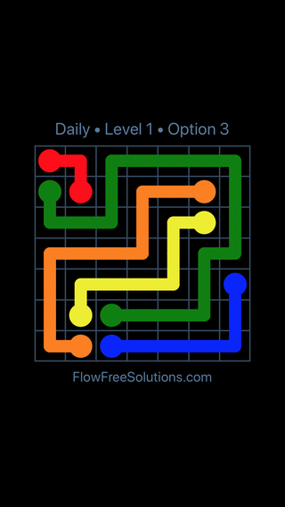 Solution and Answer to the Puzzle for Flow Date Friday, May 11, 2018 Level 1