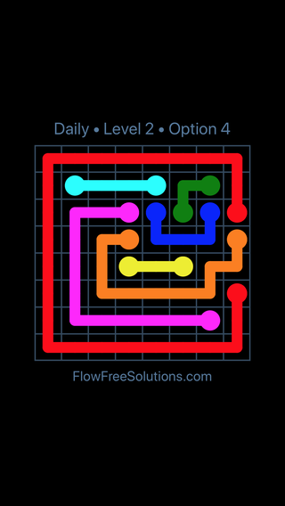 Solution and Answer to the Puzzle for Flow Date Friday, May 11, 2018 Level 2