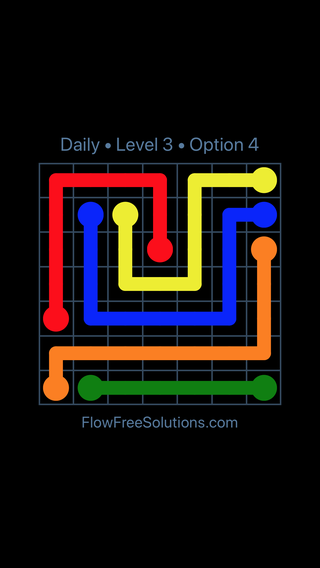 Solution and Answer to the Puzzle for Flow Date Friday, May 11, 2018 Level 3