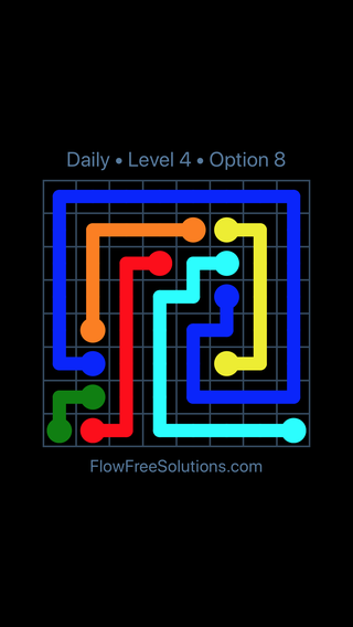 Solution and Answer to the Puzzle for Flow Date Friday, May 11, 2018 Level 4