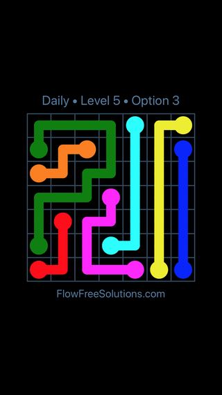 Solution and Answer to the Puzzle for Flow Date Friday, May 11, 2018 Level 5