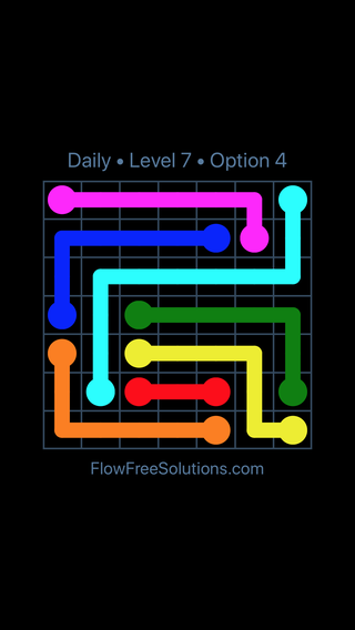 Solution and Answer to the Puzzle for Flow Date Friday, May 11, 2018 Level 7
