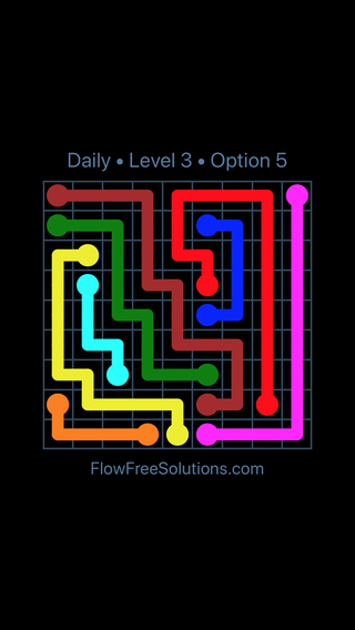 Solution and Answer to the Puzzle for Flow Date Saturday, May 12, 2018 Level 3