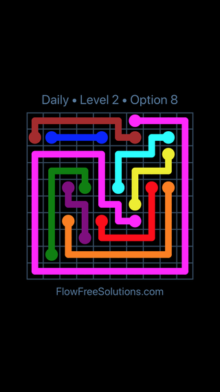 Solution and Answer to the Puzzle for Flow Date Sunday, August 5, 2018 Level 2