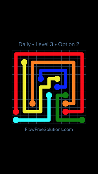 Solution and Answer to the Puzzle for Flow Date Sunday, August 5, 2018 Level 3