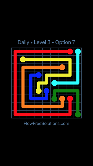 Solution and Answer to the Puzzle for Flow Date Sunday, May 13, 2018 Level 3