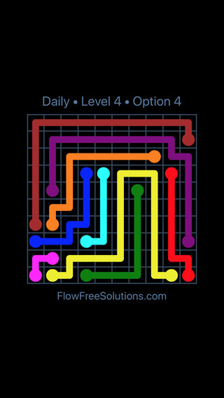 Solution and Answer to the Puzzle for Flow Date Sunday, May 13, 2018 Level 4