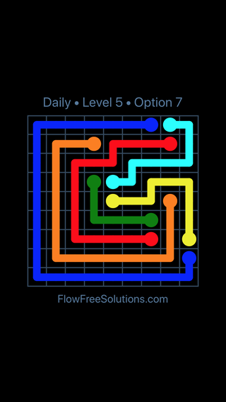 Solution and Answer to the Puzzle for Flow Date Sunday, August 5, 2018 Level 5