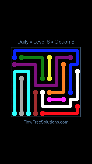 Solution and Answer to the Puzzle for Flow Date Sunday, May 13, 2018 Level 6