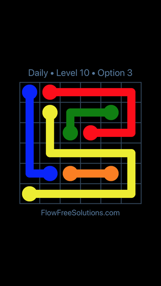 Solution and Answer to the Puzzle for Flow Date Monday, May 14, 2018 Level 10