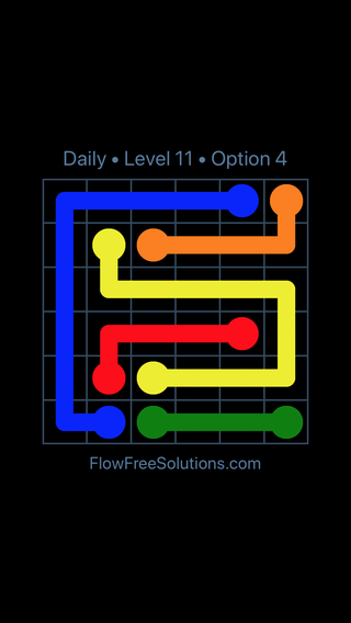 Solution and Answer to the Puzzle for Flow Date Monday, May 14, 2018 Level 11