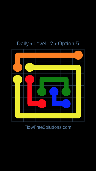 Solution and Answer to the Puzzle for Flow Date Monday, May 14, 2018 Level 12